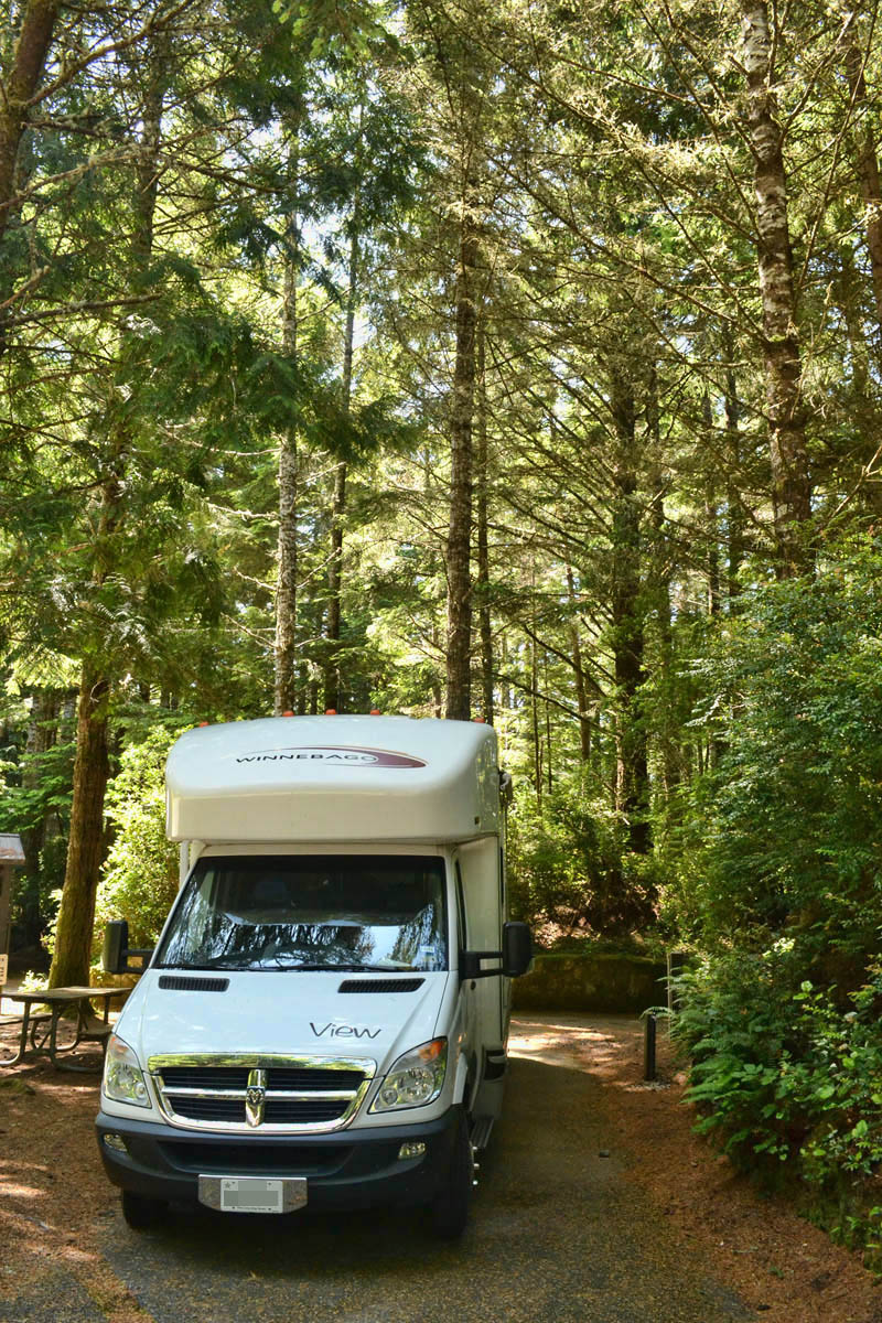 Site #9 of Umpqua River State Park, $28 for electric and water.