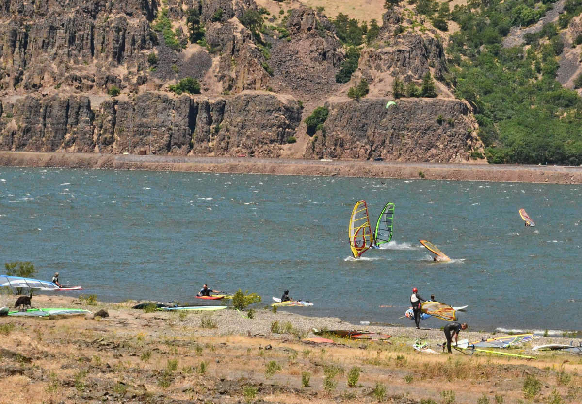 "The Columbia River is a ""mecca"" for Wind Surfers, (who also seem to favor Sprinter Vans as their transport of choice!)"