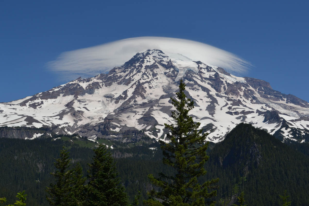 Mount Rainier creates its own weather system.