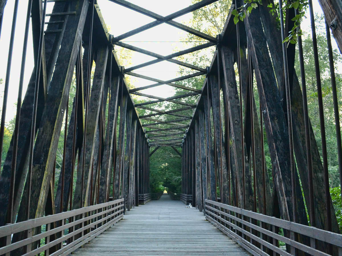 The 130-mile Olympic Discovery Trail runs across the bridge.