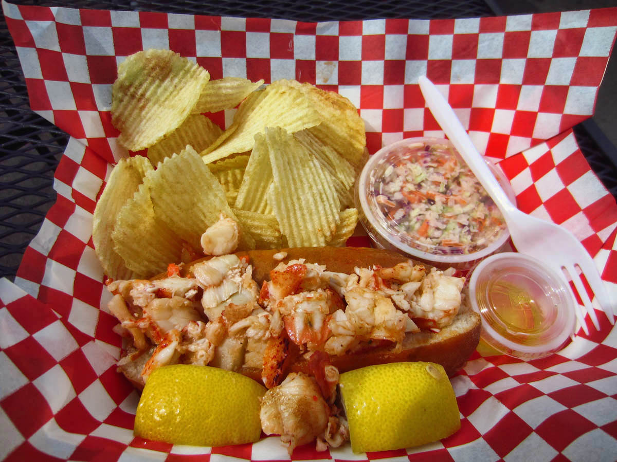 Lobster Roll from Maine Lobster food truck.