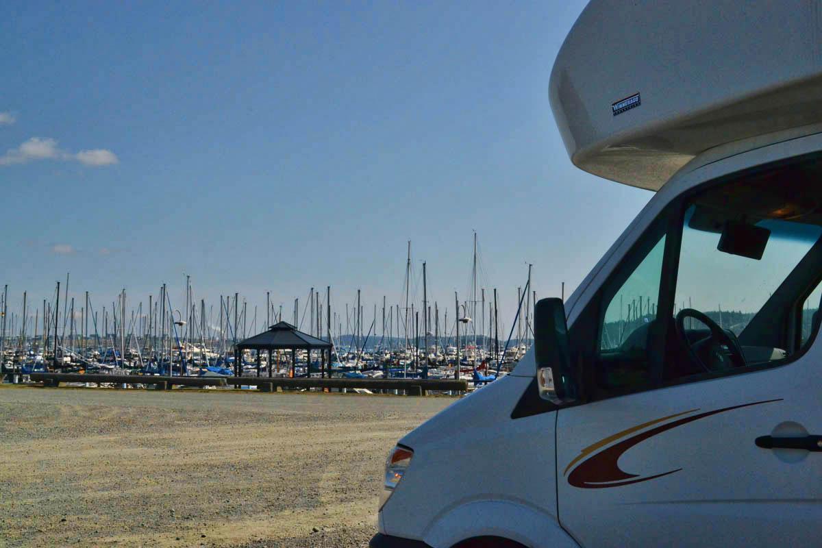 View of the Cap Sante Marina