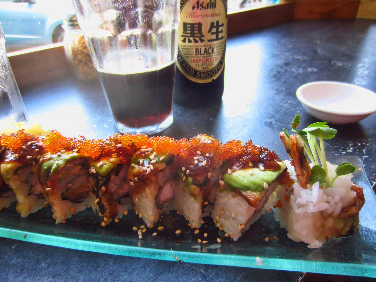 Best Sushi Roll EVER at Hanazono Asian Noodle.
