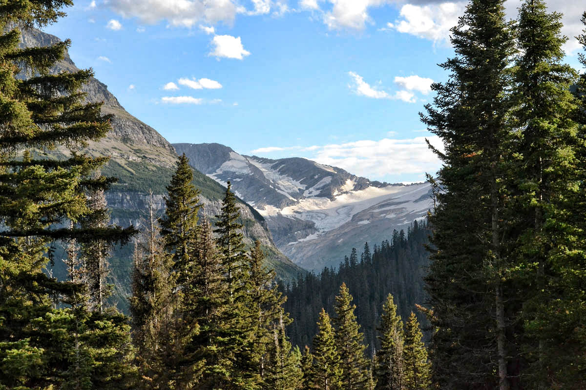 Jackson and Blackfoot Glaciers from Jackson Glacier Overlook