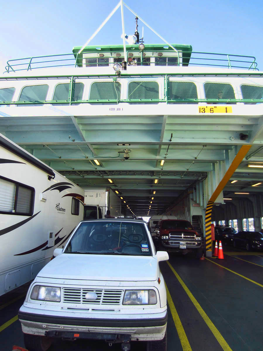 Front Row, San Juan Islands to Anacortes Ferry, Aug '14