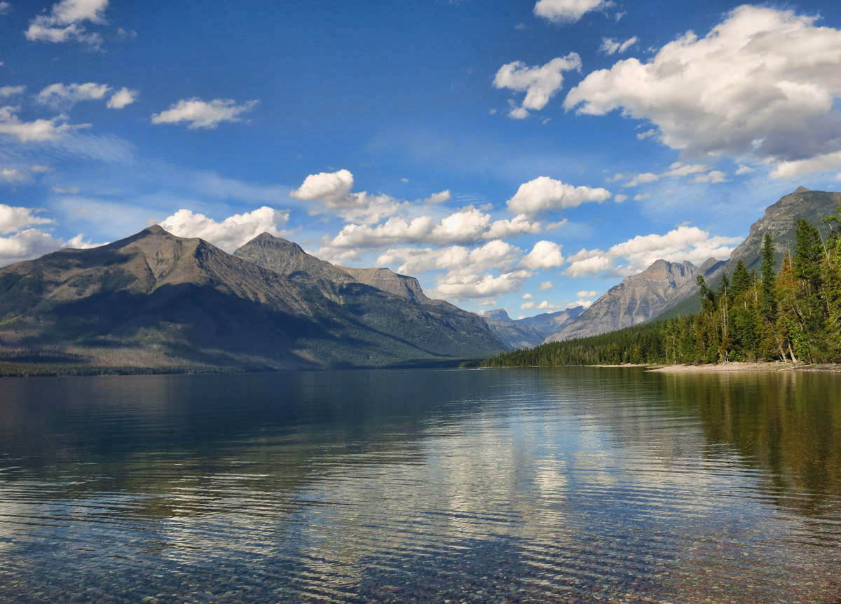 Beautiful Lake McDonald, largest lake in the park, so inviting!