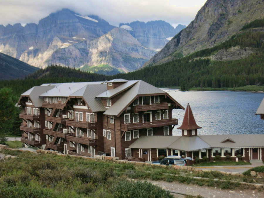 Many Glacier Lodge, built 1915