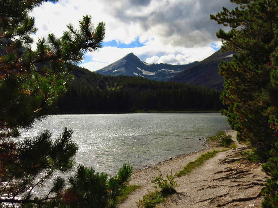 "Fishercap Lake.  Blackfeet called George Grinnell ""Fishercap."""