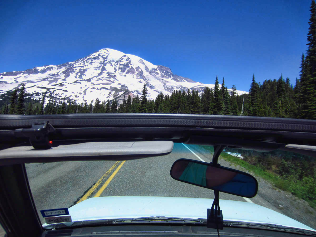 Open roof in Mt. Rainier National Park, Jul '14