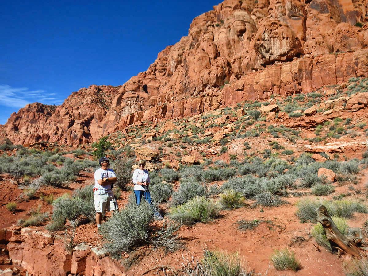 John and Ellen Souva, our hiking companions.