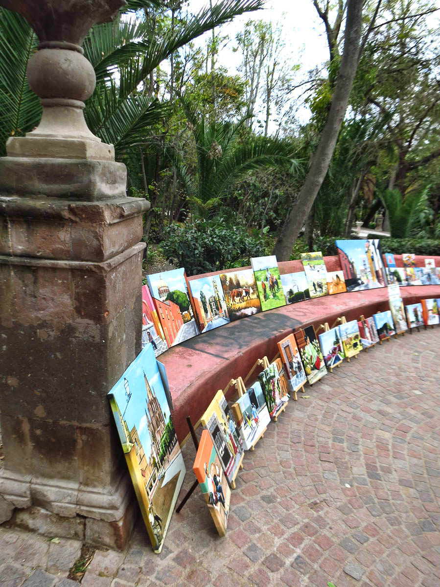Local art on display in Parque Benito Juarez