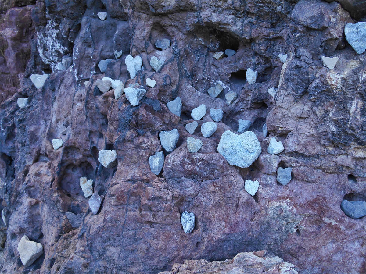 Loved this giant rock display!  Not only are the rocks heart shaped, but some of the holes are as well.