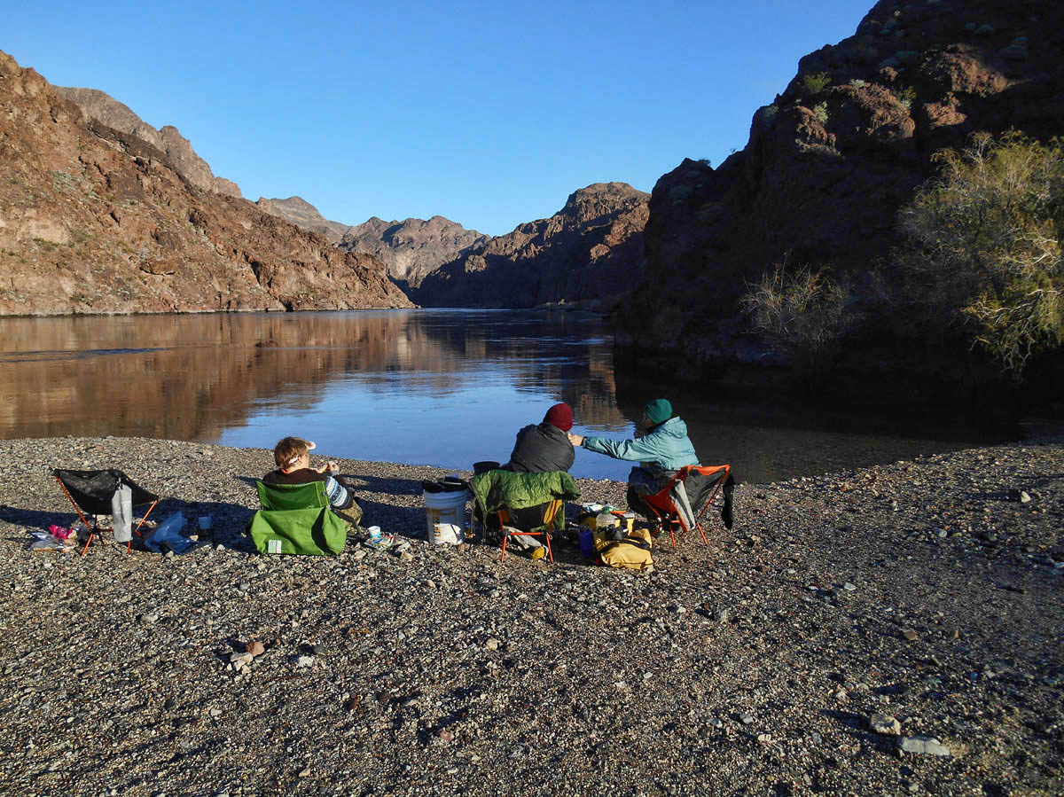 Breakfast by the Colorado River