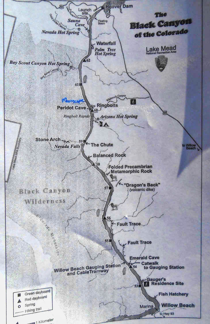 Black Canyon Water Trail Chart