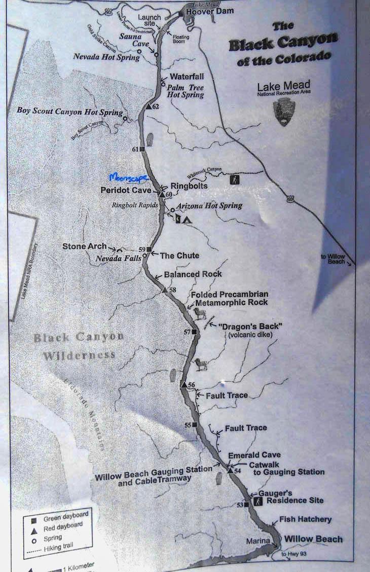 Black Canyon Water Trail Chart