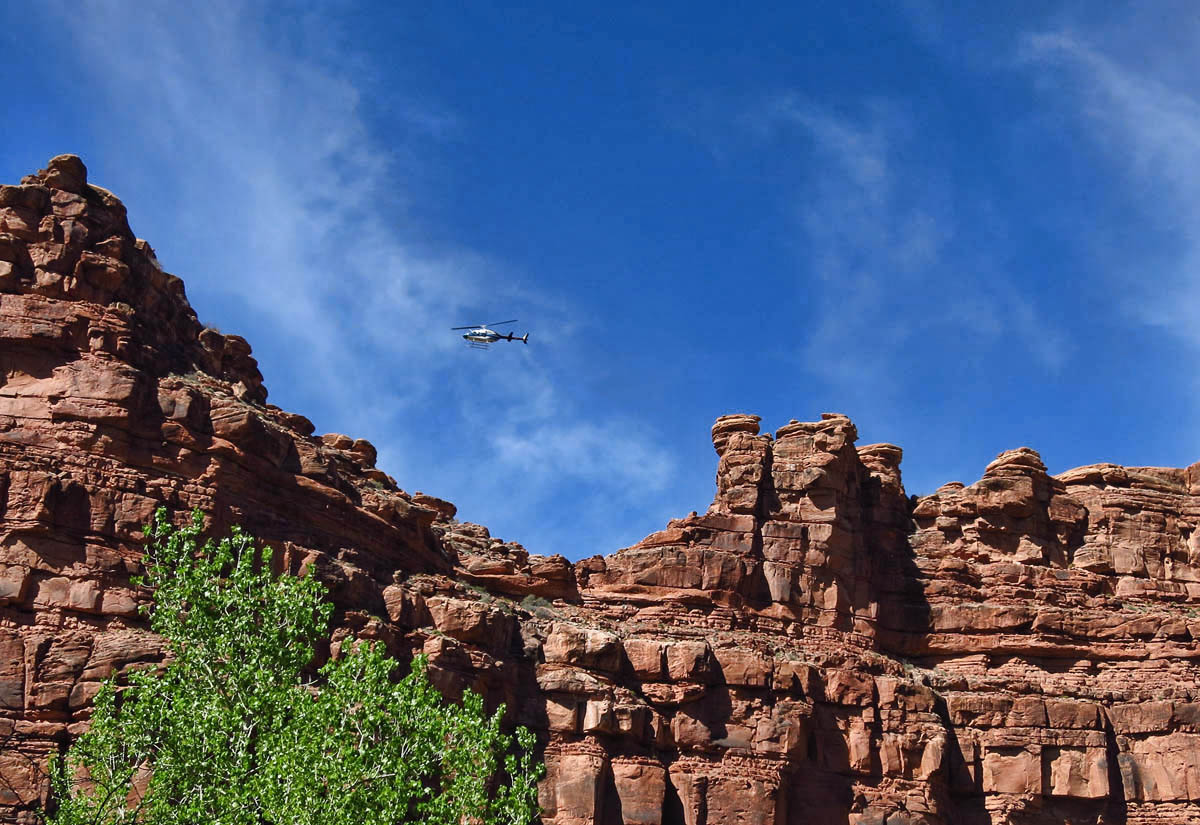 Helicopter fly-overs are continuous between the hours of 10am and 1pm.