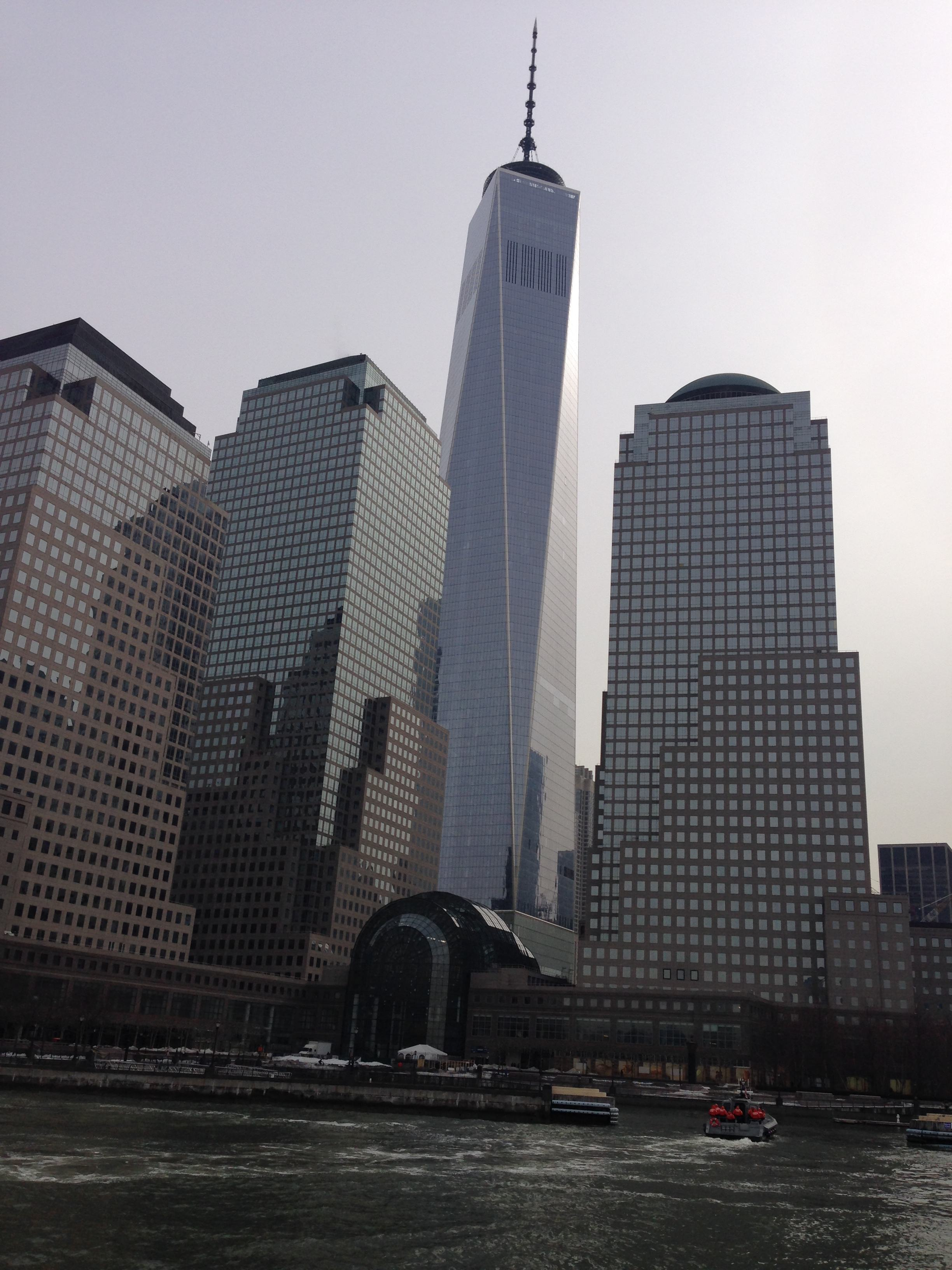 Glass exterior of the Freedom Tower is finally finished!