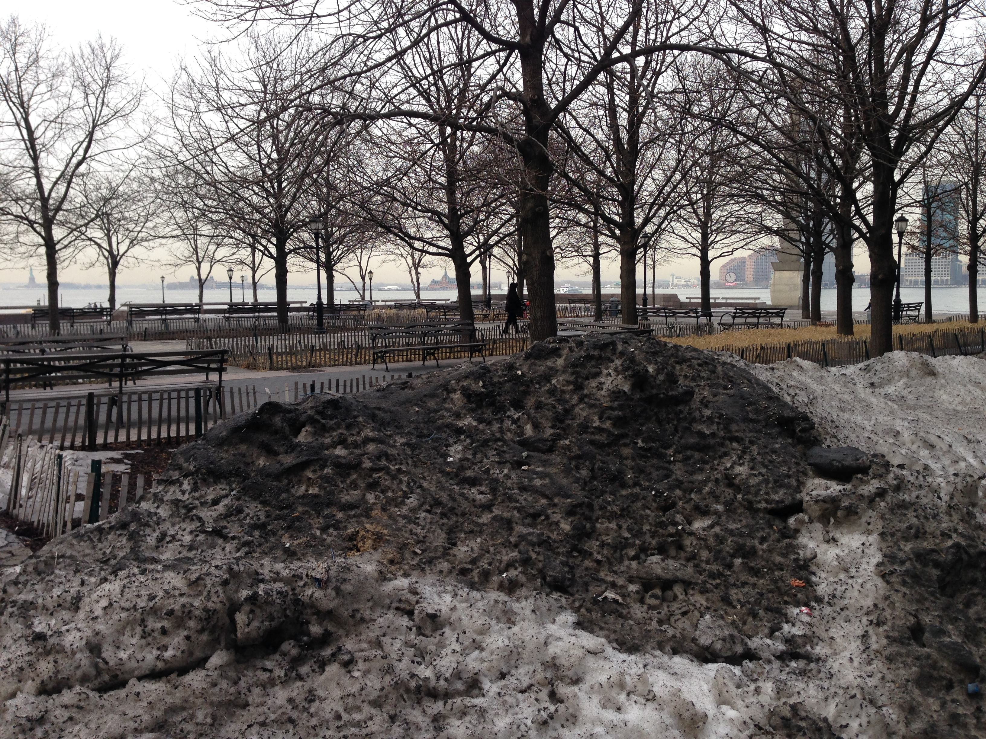 "Manhattan's infamous ""brown snow."""