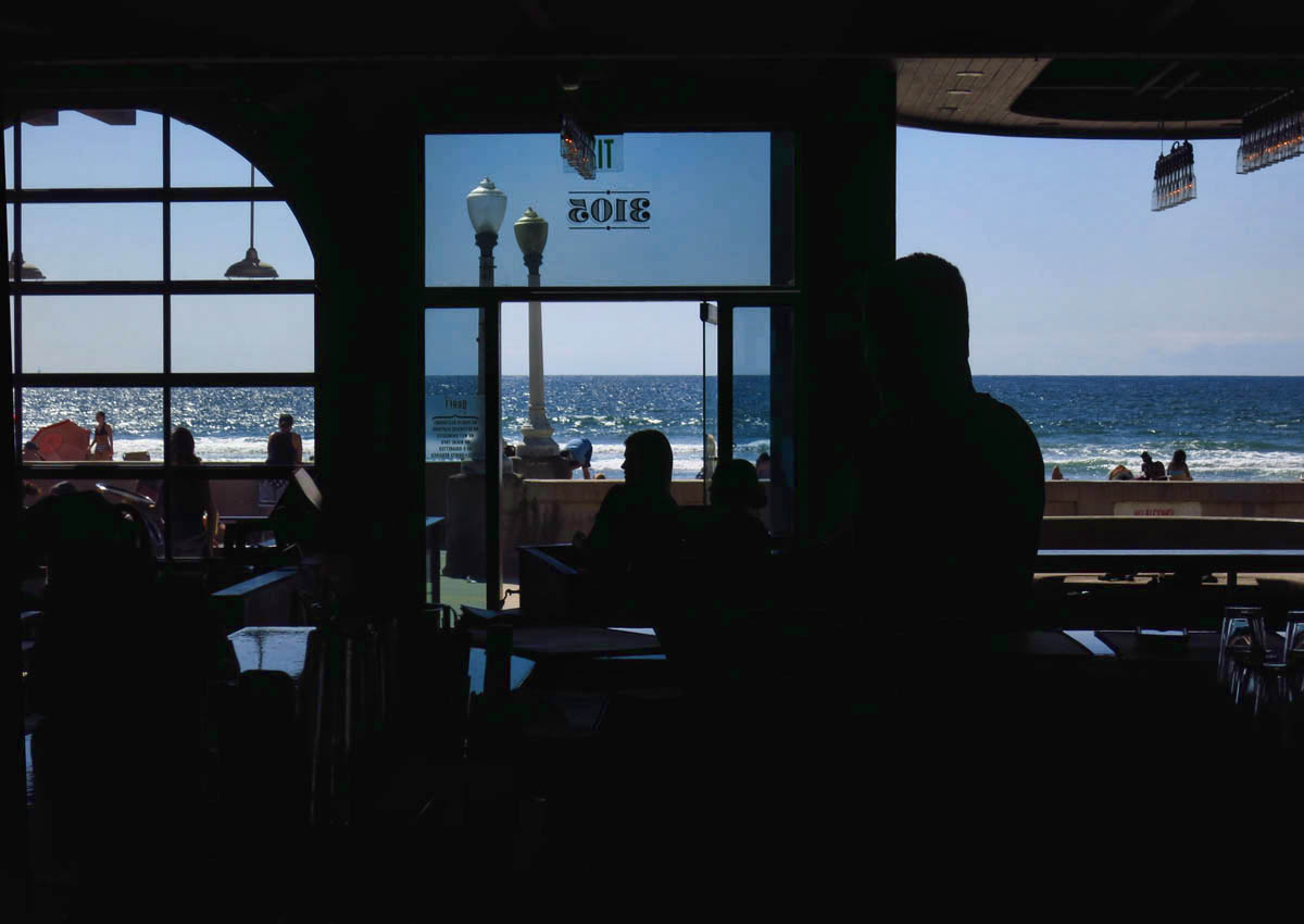 View of the Pacific Ocean from Draft's bar.