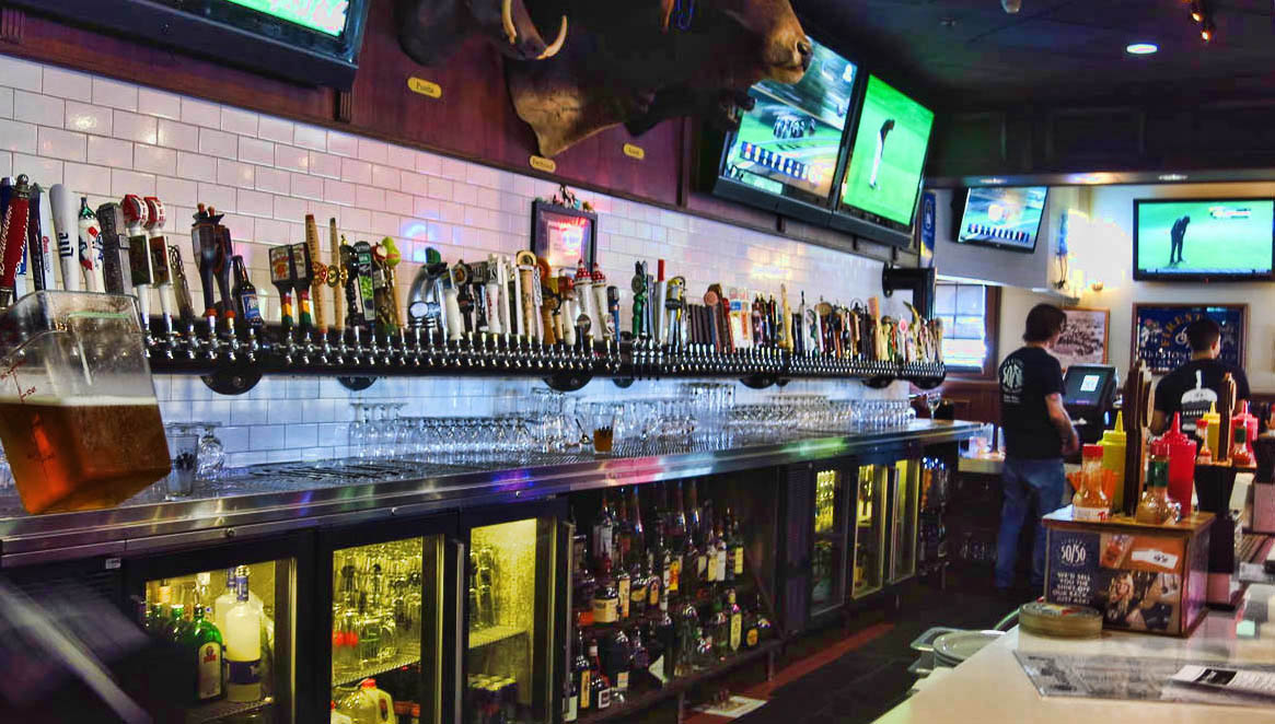 Slaters 50/50 with over 100 beers on tap.