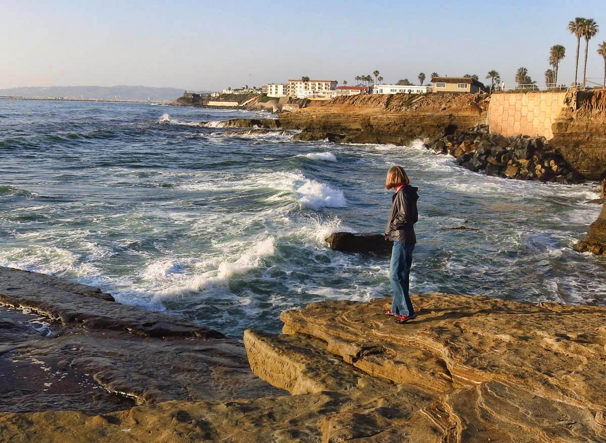 Gayle along Sunset Cliffs Walk