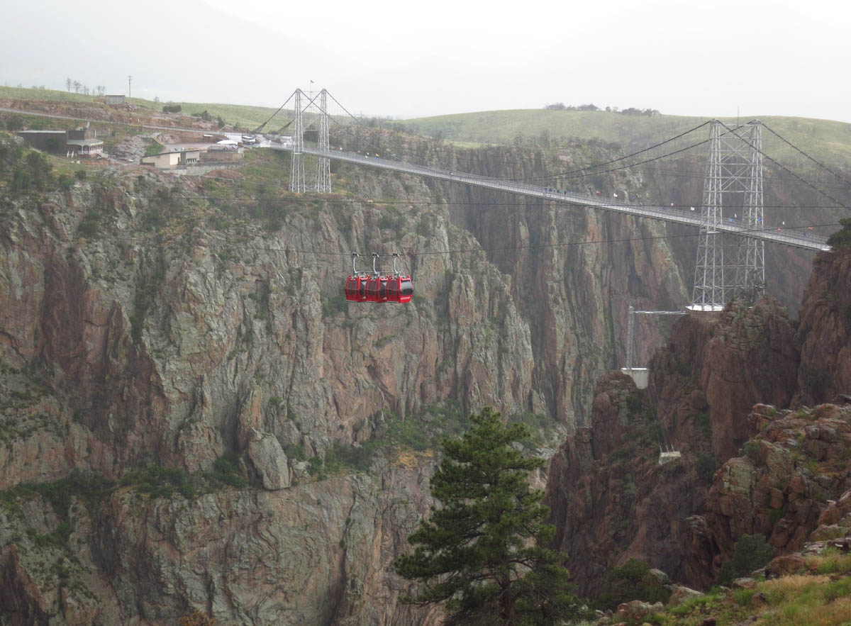 The gondola ride across the Royal Gorge.  The little Canon doesn't like the rain, apparently.