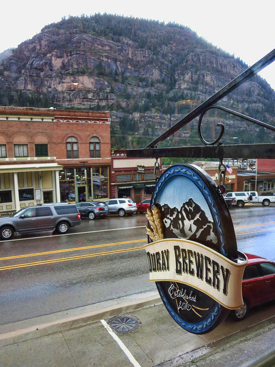 Million Dollar Main Street, from the Ouray Brewery window.