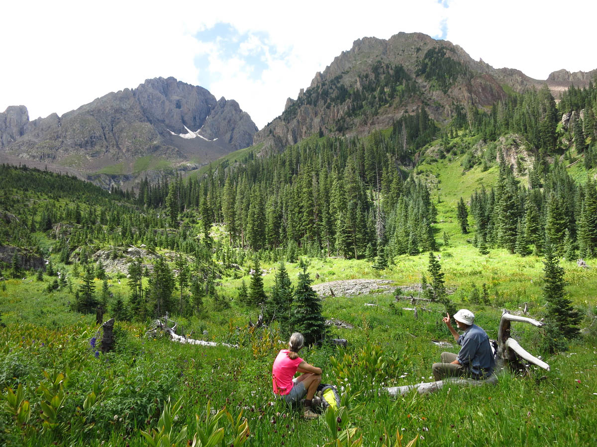 Lower Blaine Basin -- if there is a more perfect lunch spot, I can't imagine it.