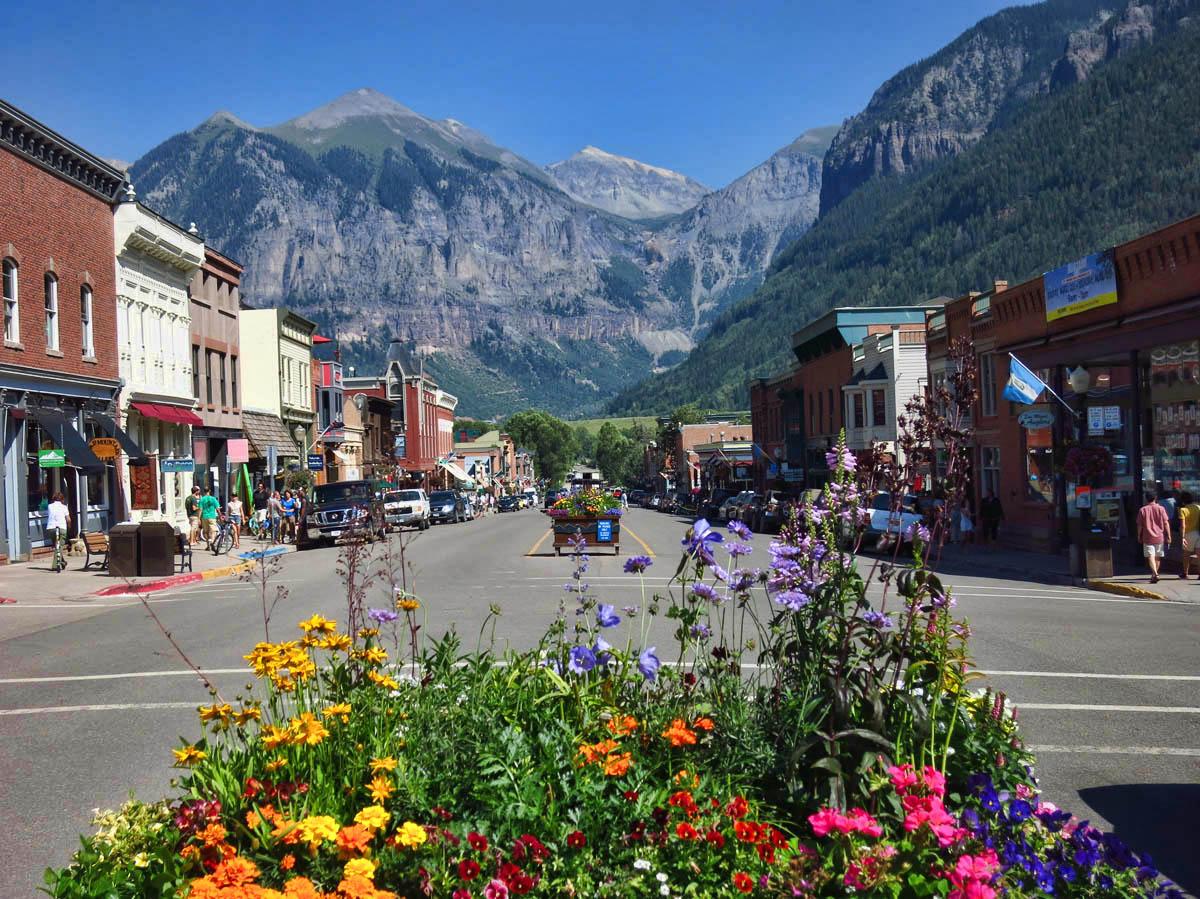 Main Street, Telluride, known as Colorado Avenue.