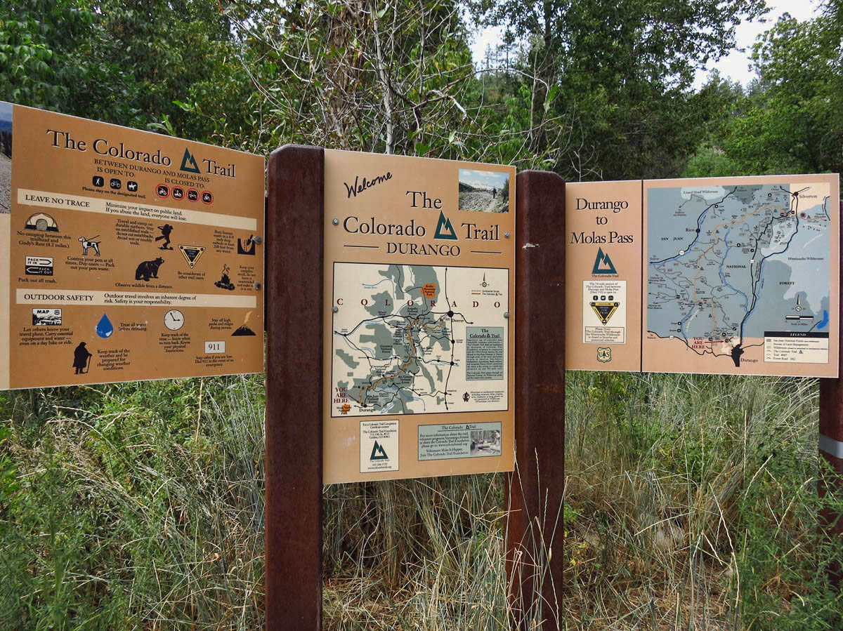 The southern terminus of the Colorado Trail.