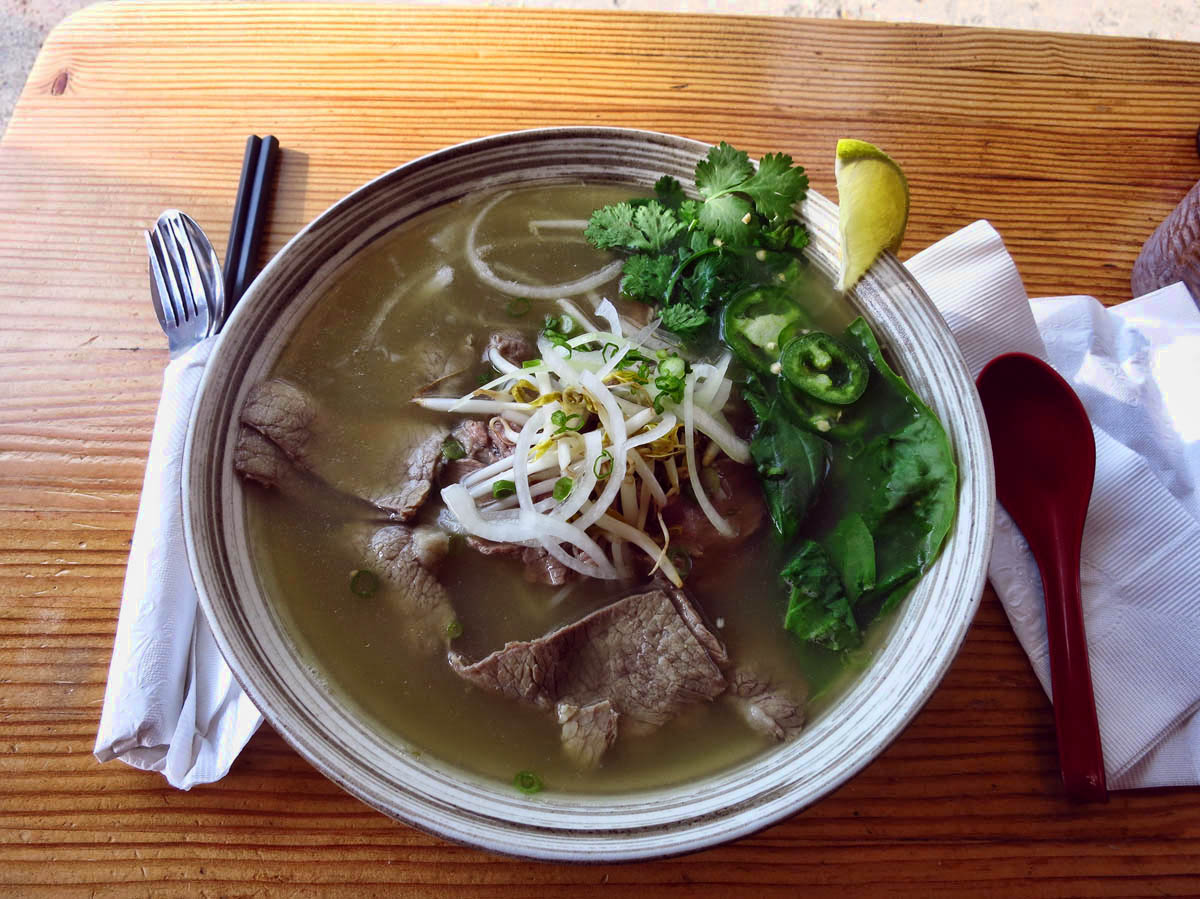 Rice Monkey's Pho, or Vietnamese beef soup.