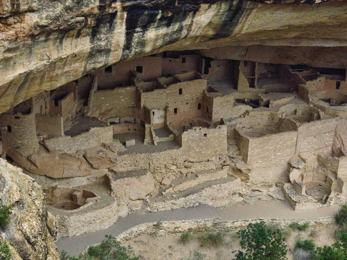 Cliff Palace has 150 rooms, 75 constructed areas, and 23 kivas,