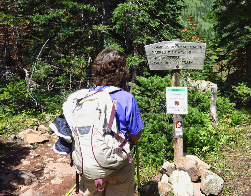 Backpacking campground has seen recent bear activity.