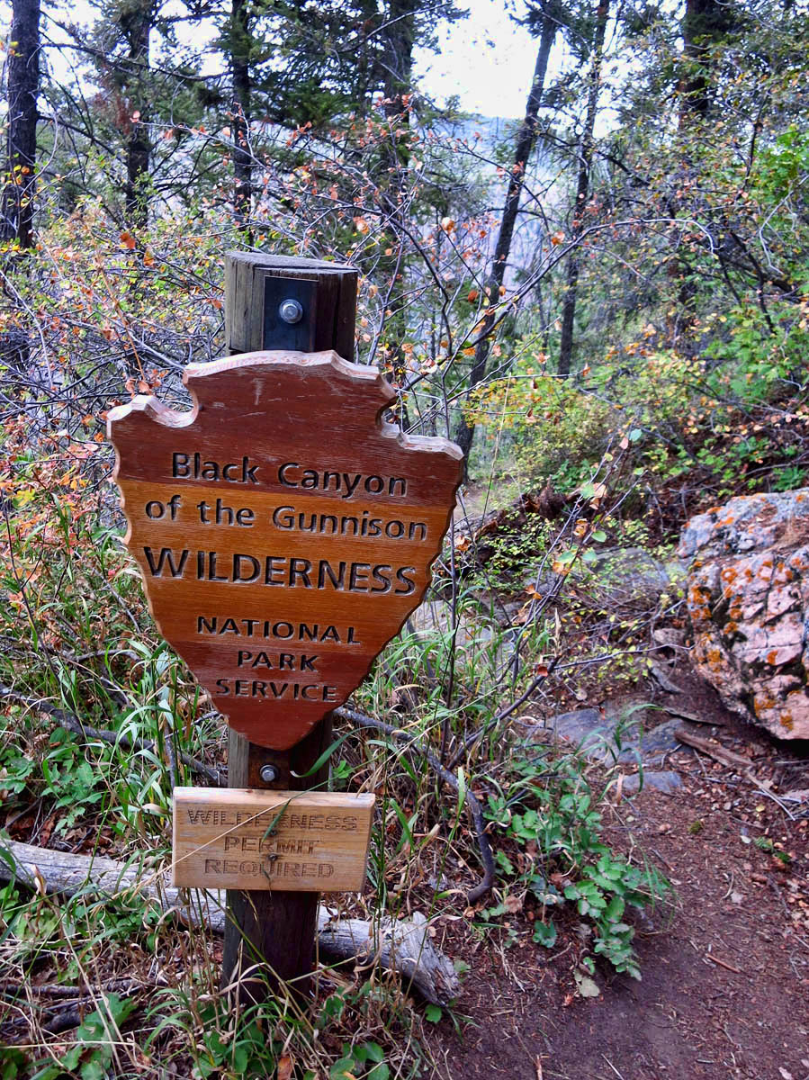Wilderness permit is required for further decent into the Inner Canyon.