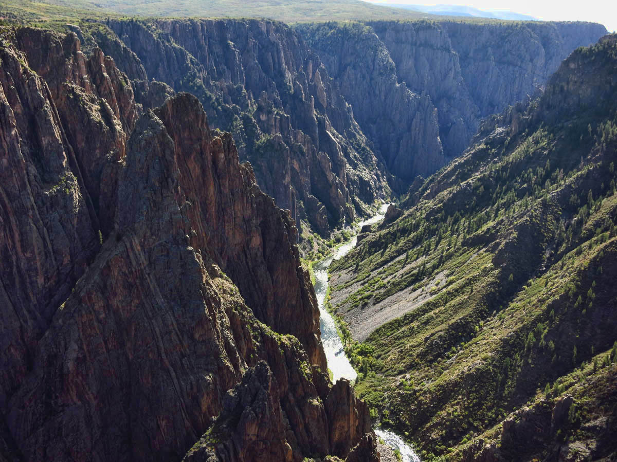 Silver ribbon that is the Gunnison River.