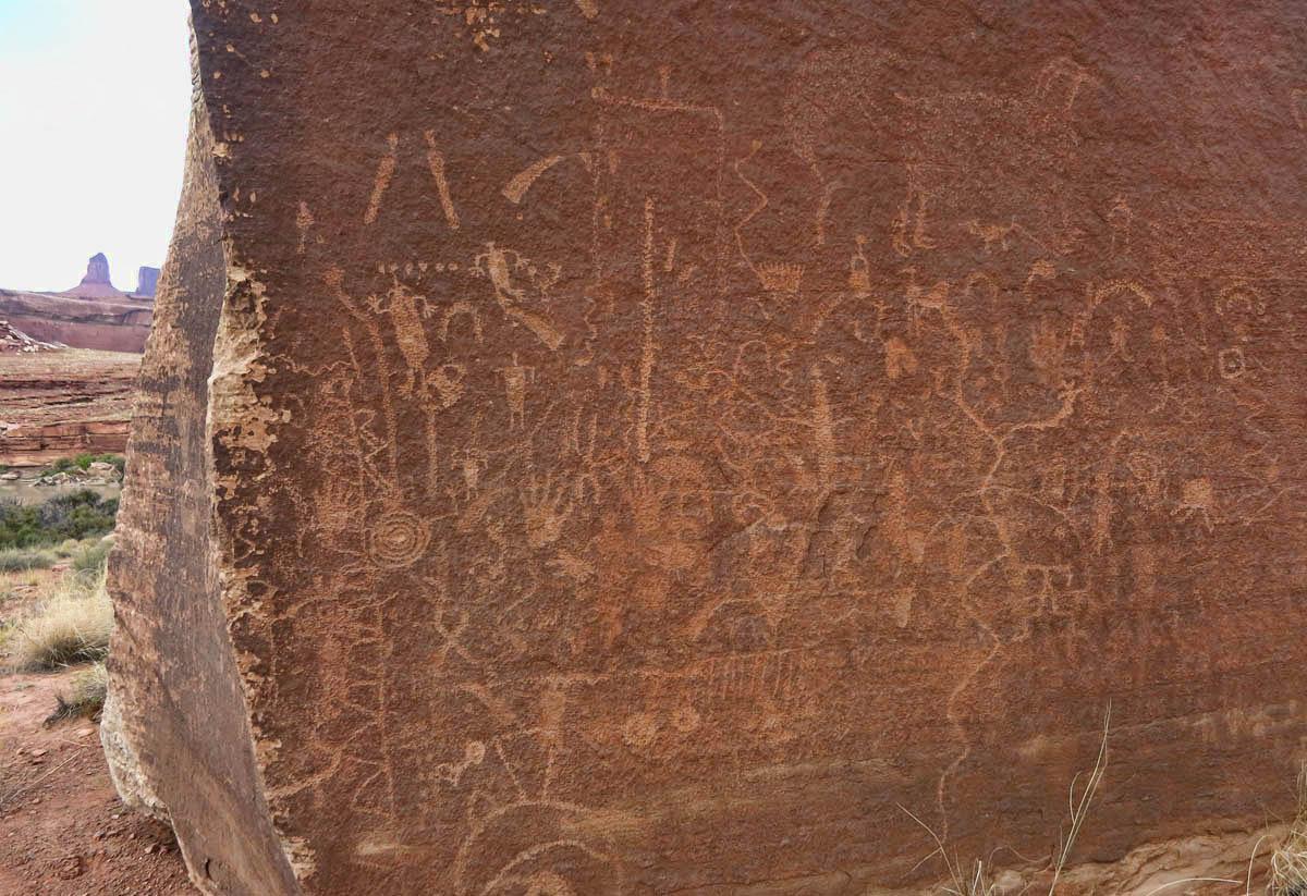 Ancient petroglyphs, or early graffiti?