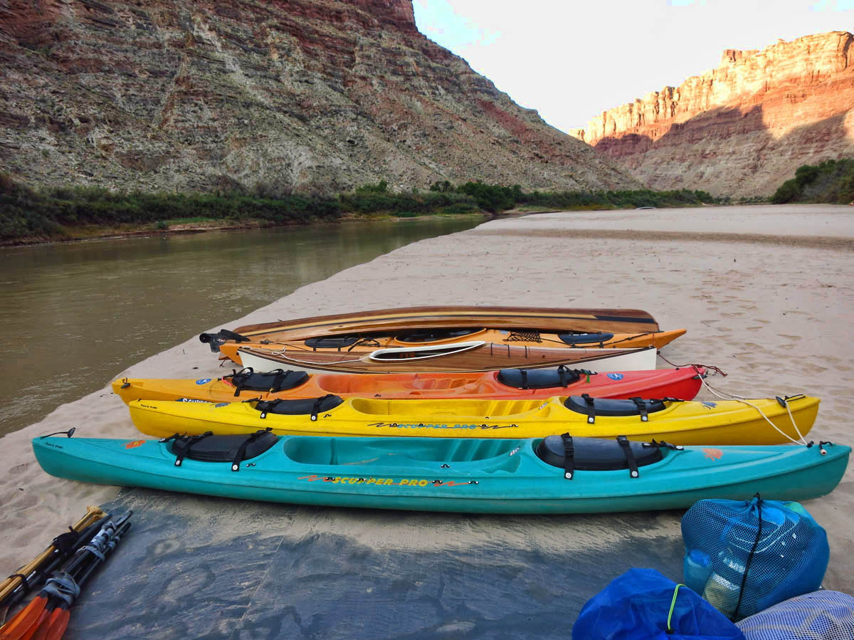 Our pick-up point, which is also our final camp is just a couple of miles down from the confluence, now on the Colorado River.    All the boats are pulled out of the water and scrubbed clean.  Unfortunately, a big sandstorm blows in shortly thereafter.