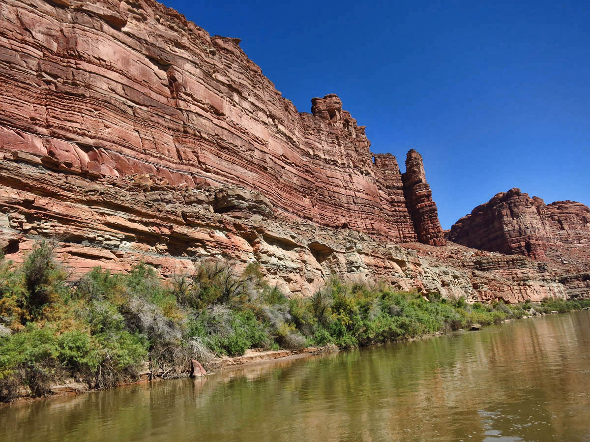 I find the scenery up the Colorado side to be equally beautiful as the Green River, if not more so.