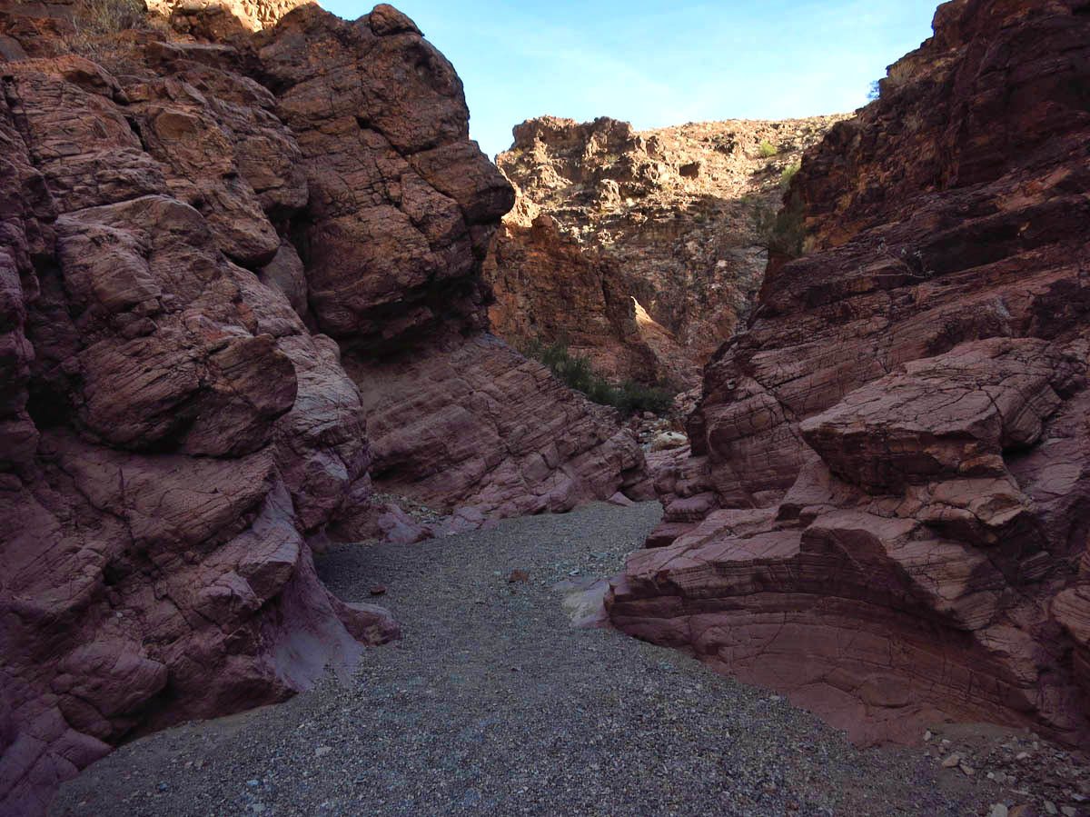 "View of slot canyon leading to ""The Crack"""