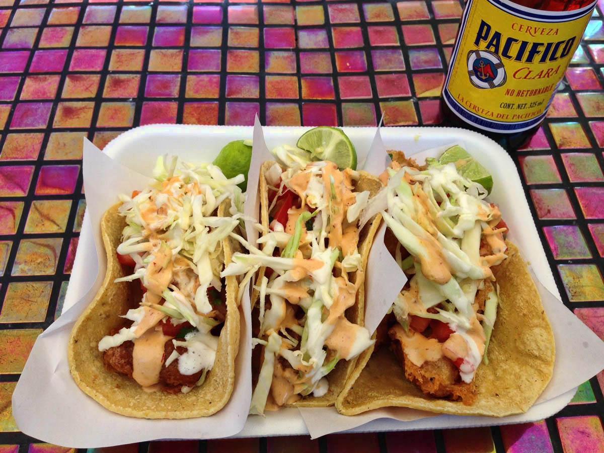 My favorite shrimp taco stand in Los Algodones -- Lupitas
