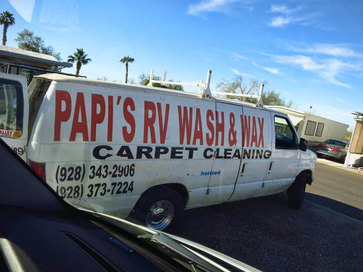 Papi did a fine job of washing both vehicles for only $45.