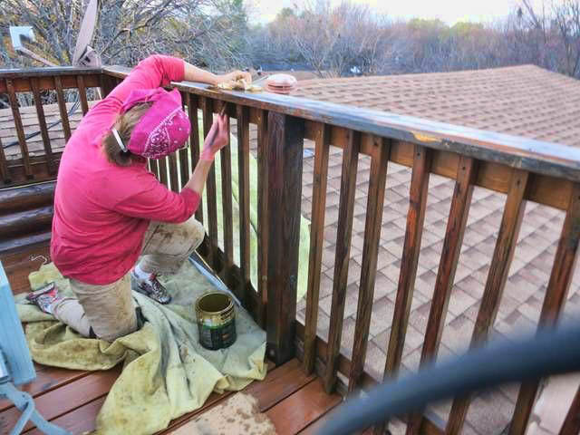 "My favorite place to paint was the ""crows nest"" up on the roof, with a view of the lake..."