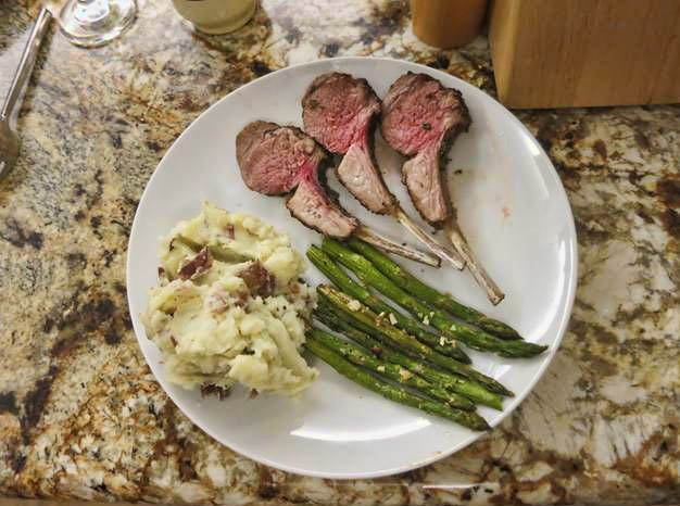 He knows lamb chops seared with rosemary are my favorite!