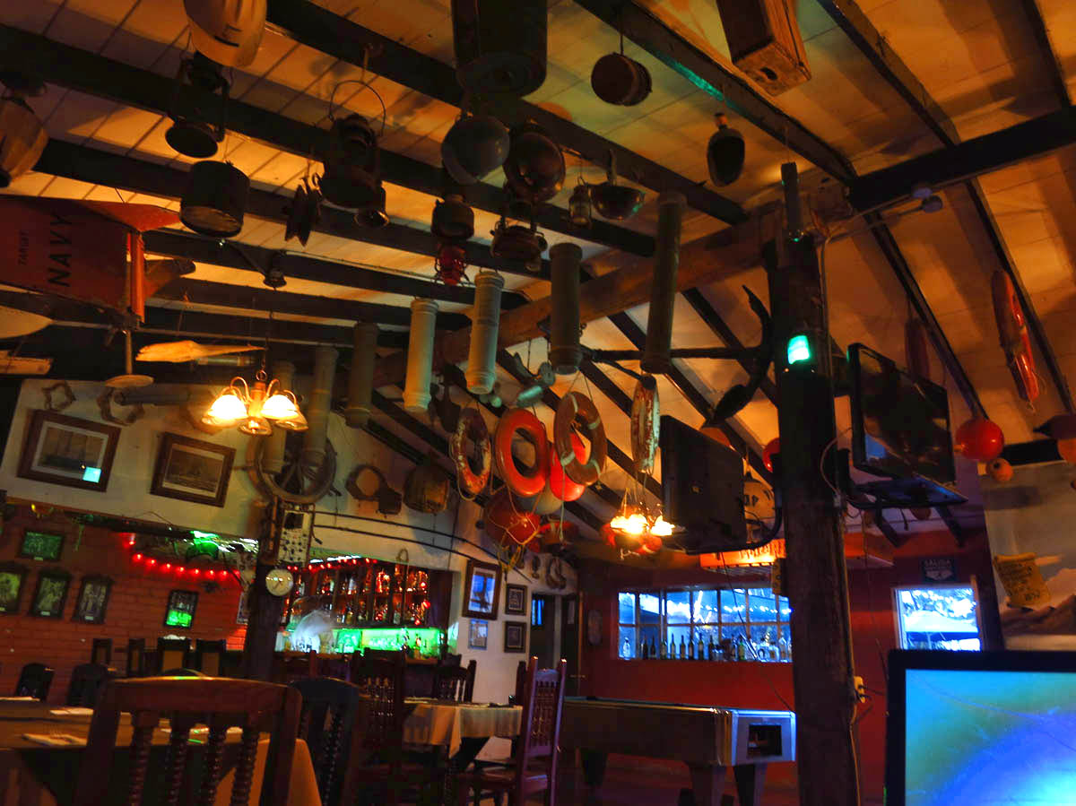 "I love the ""flotsam and jetsam"" in Malarrimo's Bar."