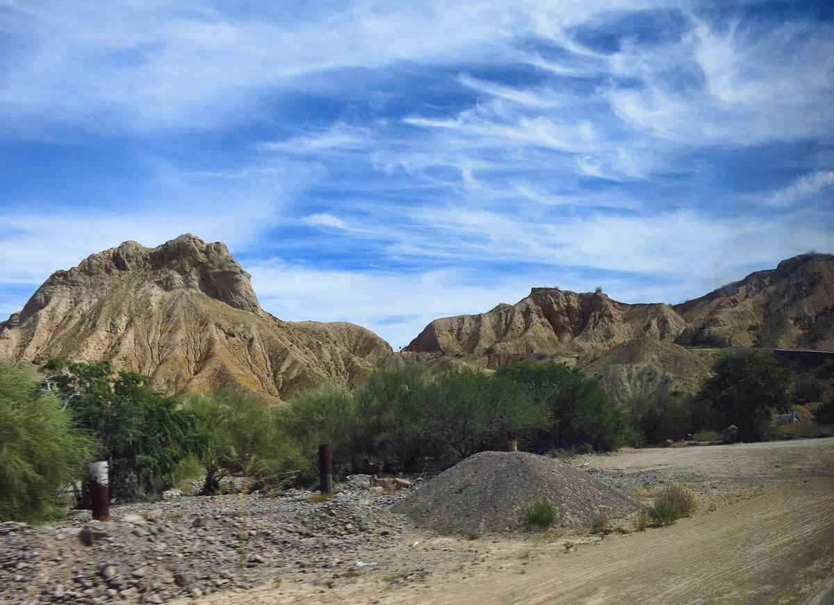 "Looking a little like the ""Badlands of Baja."""