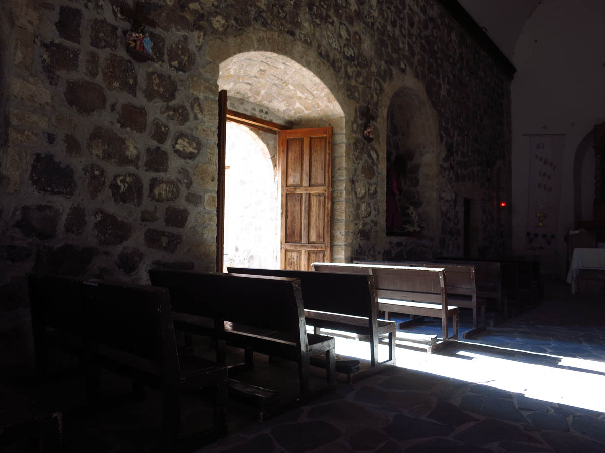 I found the lighting inside the Mision to be evocative and contemplative.  I sat here for a long time.