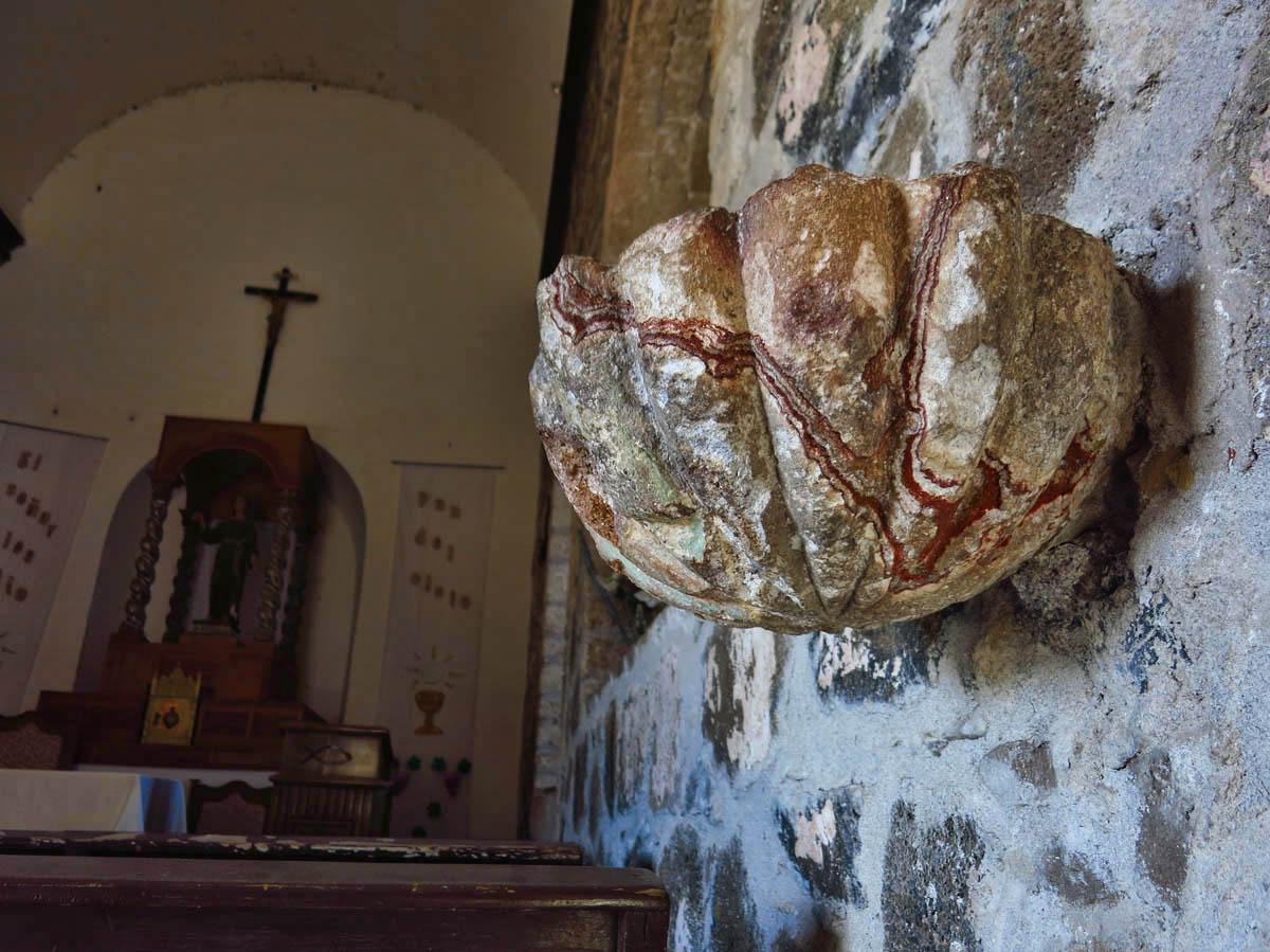 Sacrarium of stone