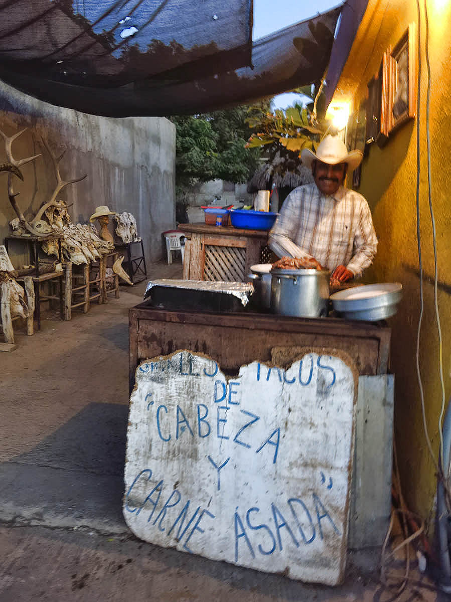 "I draw the line at ""Cabeza"" (cow head) tacos, though, no matter how charming the proprietor!"