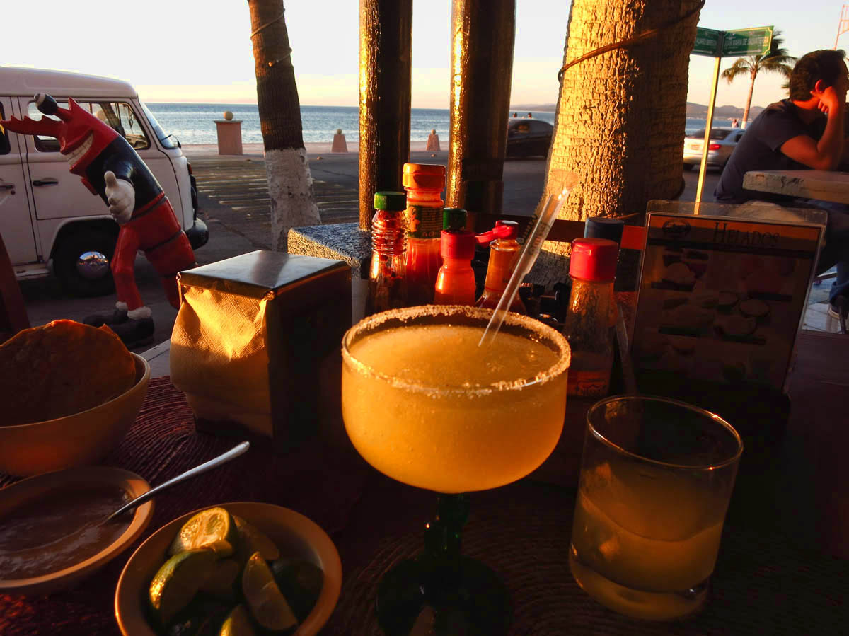 My last sunset margarita  (sniff)