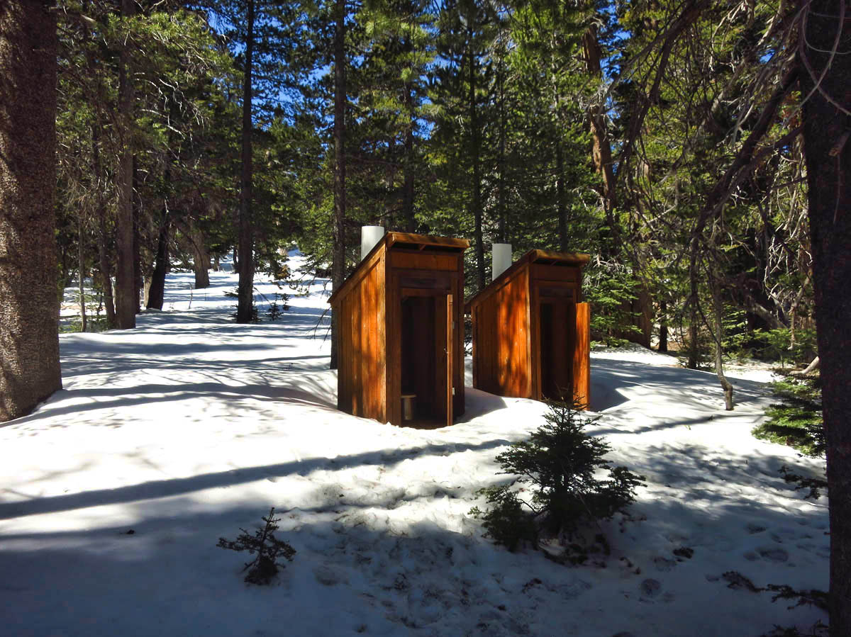 Outhouses near Round Valley.
